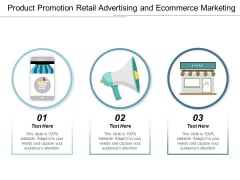 Product Promotion Retail Advertising And Ecommerce Marketing Ppt Powerpoint Presentation Slides Show