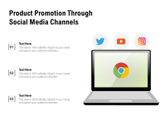 Product Promotion Through Social Media Channels Ppt PowerPoint Presentation Gallery Layout Ideas PDF