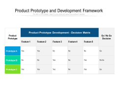 Product Prototype And Development Framework Ppt PowerPoint Presentation Icon Example File PDF