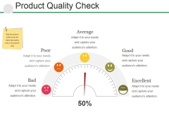 Product Quality Check Ppt PowerPoint Presentation Ideas Outline