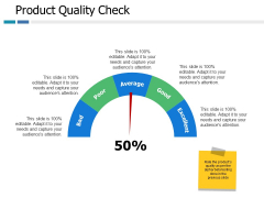 Product Quality Check Ppt PowerPoint Presentation Styles Layouts