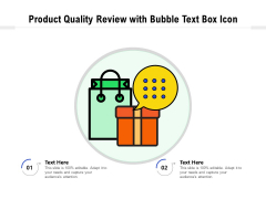 Product Quality Feedback With Chat Bubble Vector Icon Ppt PowerPoint Presentation File Clipart PDF