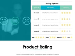 Product Rating Smile Ppt PowerPoint Presentation Infographics Gallery