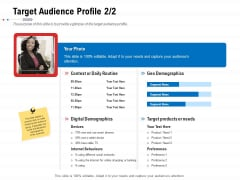 Product Relaunch And Branding Target Audience Profile Products Ppt Ideas Design Ideas PDF
