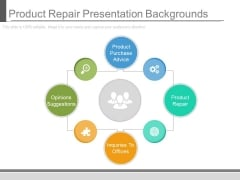 Product Repair Presentation Backgrounds