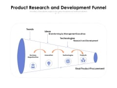 Product Research And Development Funnel Ppt PowerPoint Presentation Slides Portrait PDF