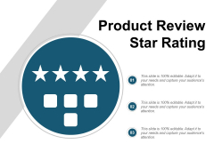 Product Review Star Rating Ppt PowerPoint Presentation Visual Aids Pictures