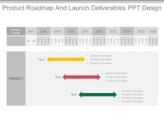 Product Roadmap And Launch Deliverables Ppt Design