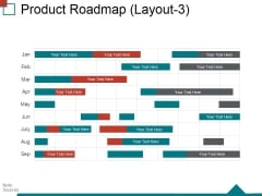 Product Roadmap Layout3 Ppt PowerPoint Presentation Ideas Demonstration