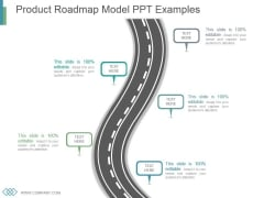 Product Roadmap Model Ppt Examples
