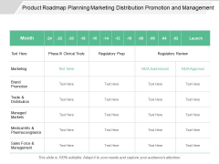 Product Roadmap Planning Marketing Distribution Promotion And Management Ppt PowerPoint Presentation Summary Tips