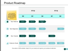 Product Roadmap Ppt PowerPoint Presentation Infographics Icon