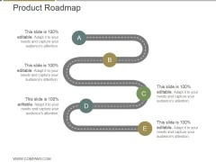 Product Roadmap Ppt PowerPoint Presentation Show