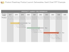 Product Roadmap Product Launch Deliverables Gantt Chart Ppt Example
