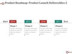 Product Roadmap Product Launch Deliverables Template Ppt PowerPoint Presentation Infographic Template Icon
