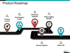 Product Roadmap Template 1 Ppt PowerPoint Presentation Icon Show