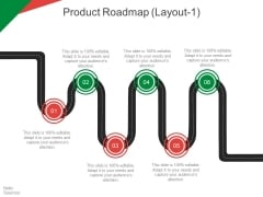 Product Roadmap Template 1 Ppt PowerPoint Presentation Slides Backgrounds