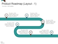 Product Roadmap Template 1 Ppt PowerPoint Presentation Styles Slide Download