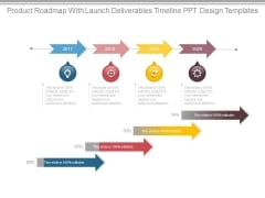 Product Roadmap With Launch Deliverables Timeline Ppt Design Templates