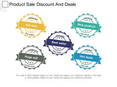 Product Sale Discount And Deals Ppt PowerPoint Presentation Professional Slides