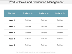 Product Sales And Distribution Management Ppt PowerPoint Presentation Ideas Maker