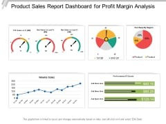 Product Sales Report Dashboard For Profit Margin Analysis Ppt PowerPoint Presentation Ideas Slide Portrait