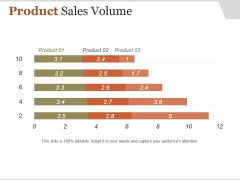 Product Sales Volume Ppt PowerPoint Presentation Layout
