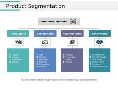 Product Segmentation Ppt PowerPoint Presentation Slides Ideas