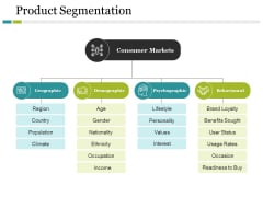 Product Segmentation Template 1 Ppt PowerPoint Presentation Model Smartart
