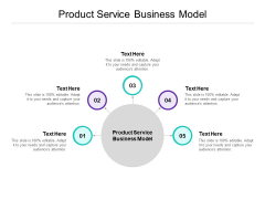 Product Service Business Model Ppt PowerPoint Presentation Pictures Visuals Cpb