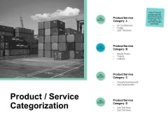 Product Service Categorization Development Ppt PowerPoint Presentation Layouts Infographic Template