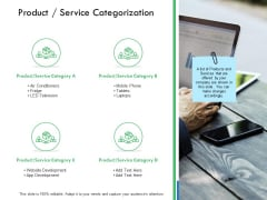 Product Service Categorization Ppt PowerPoint Presentation Example
