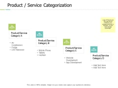 Product Service Categorization Ppt PowerPoint Presentation Model Clipart Images
