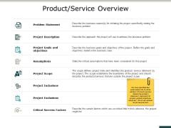 Product Service Overview Ppt PowerPoint Presentation Inspiration Files
