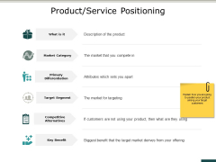 Product Service Positioning Ppt PowerPoint Presentation Pictures