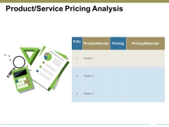 Product Service Pricing Analysis Ppt PowerPoint Presentation File Ideas
