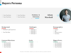 Product Share In Customer Wallet Buyers Persona Icons PDF