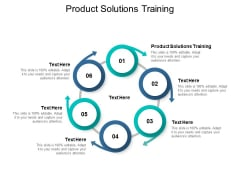 Product Solutions Training Ppt PowerPoint Presentation Slides Good Cpb