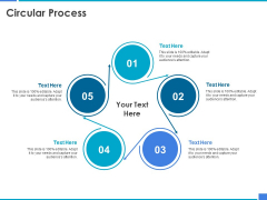 Product Strategy And Product Management Implementation Circular Process Ppt Icon Background Image PDF