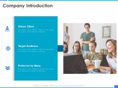 Product Strategy And Product Management Implementation Company Introduction Ppt Pictures PDF