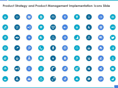 Product Strategy And Product Management Implementation Icons Slide Ppt Icon Templates PDF