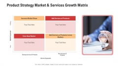 Product Strategy Market And Services Growth Matrix Topics PDF