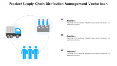 Product Supply Chain Distribution Management Vector Icon Ppt PowerPoint Presentation Gallery Demonstration PDF