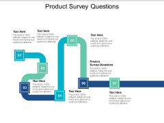Product Survey Questions Ppt PowerPoint Presentation Icon Example Topics Cpb