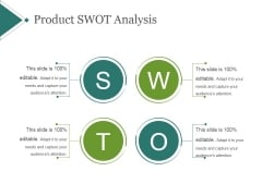 Product Swot Analysis Ppt PowerPoint Presentation Graphics