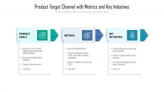 Product Target Channel With Metrics And Key Initiatives Template PDF