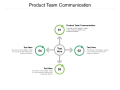 Product Team Communication Ppt PowerPoint Presentation Infographics Guidelines Cpb
