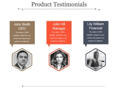 Product Testimonials Ppt PowerPoint Presentation Background Designs