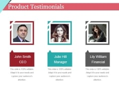 Product Testimonials Ppt PowerPoint Presentation Layouts Pictures