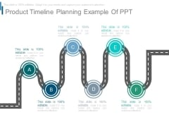 Product Timeline Planning Example Of Ppt
